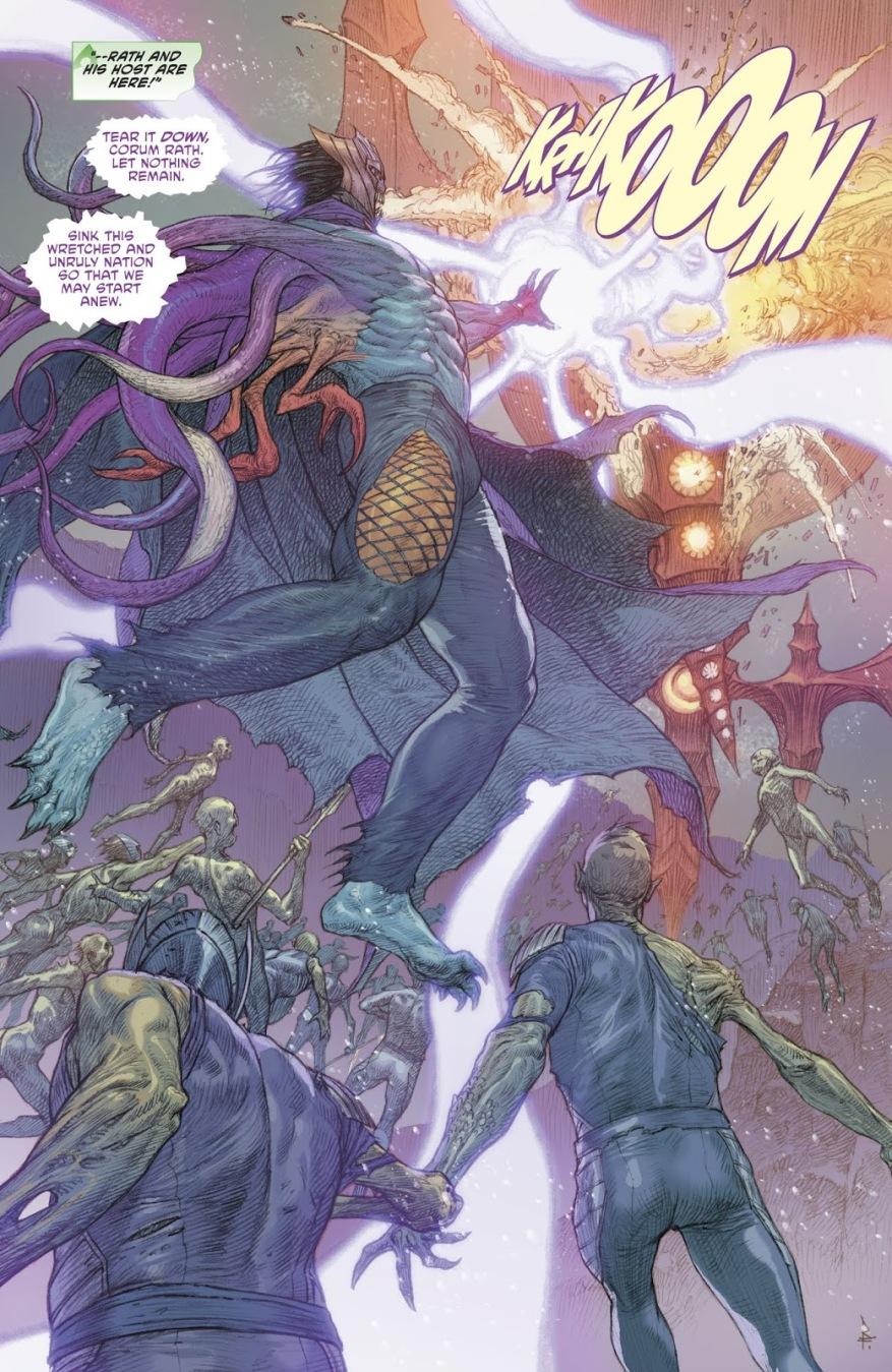 Corum Rath Breaks Aquaman's Trident