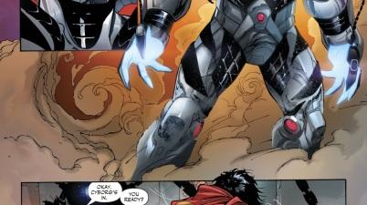 Kid Amazo Infects Cyborg