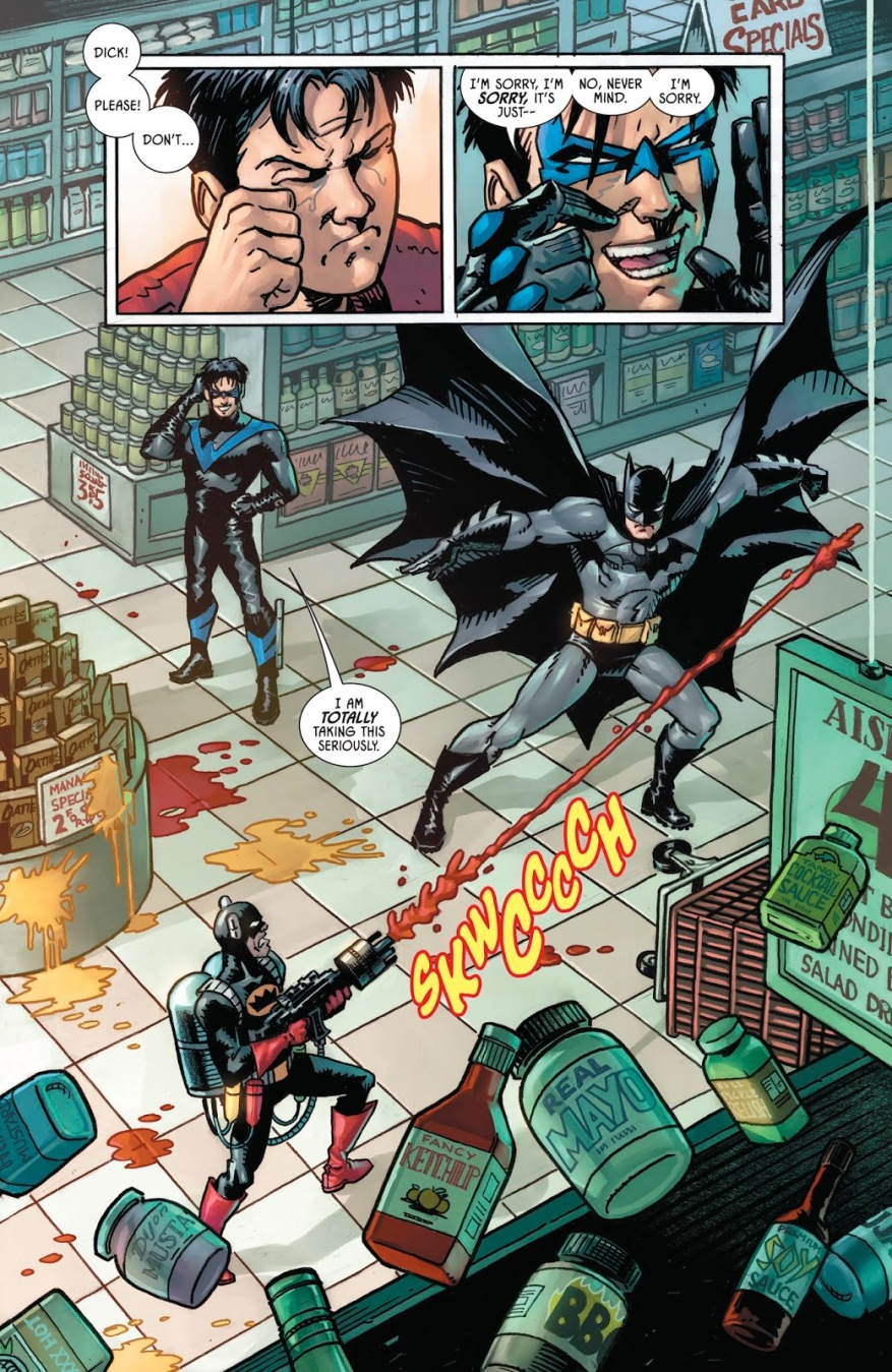 Batman And Nightwing VS Condiment King (Rebirth)