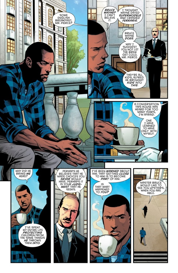 Black Lightning Learns Batman Is Bruce Wayne (Rebirth)