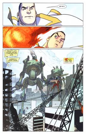 Captain Marvel VS 2 Giant Fire-Breathing Robots