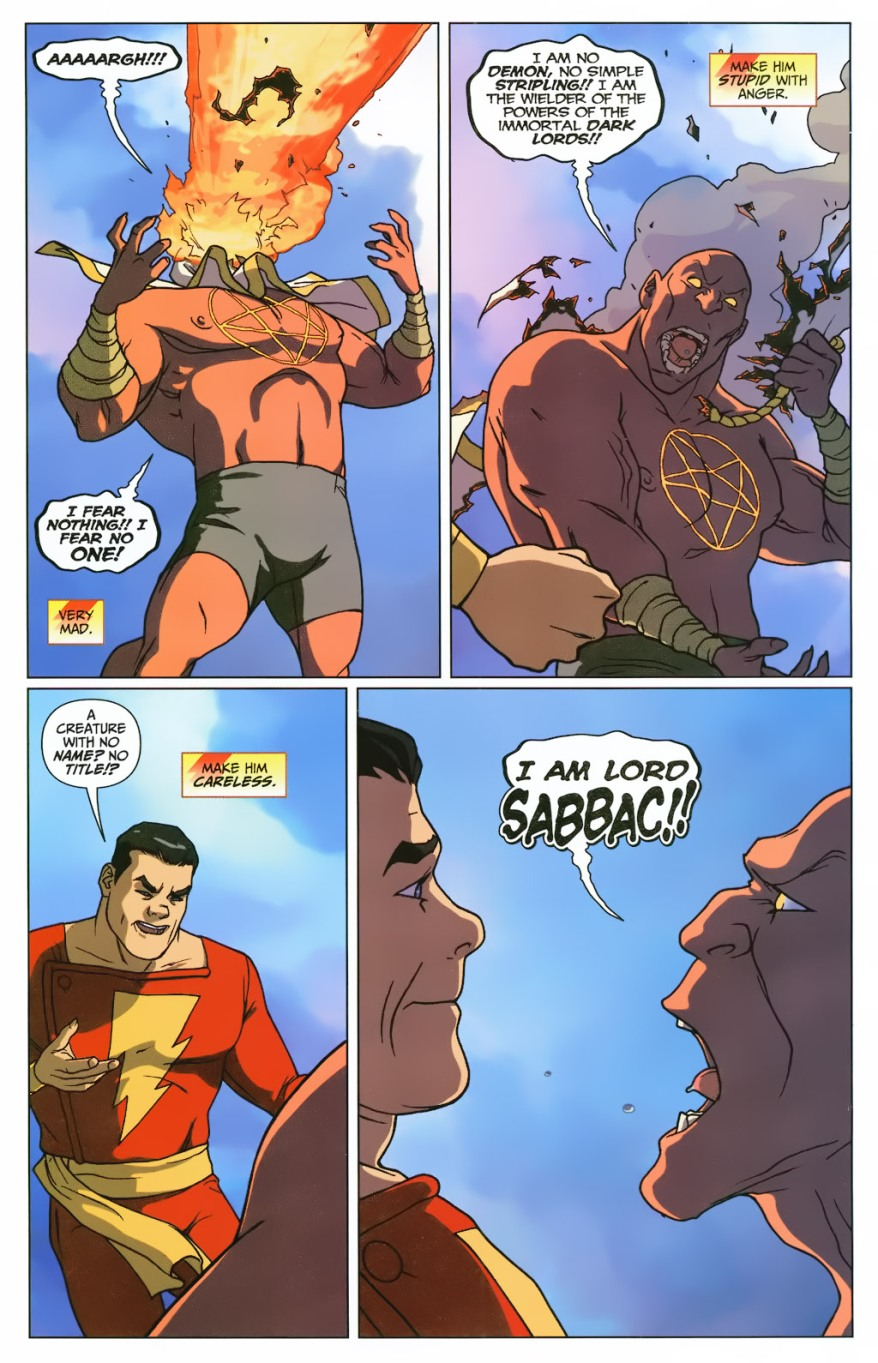 Captain Marvel VS Sabbac (First Thunder)