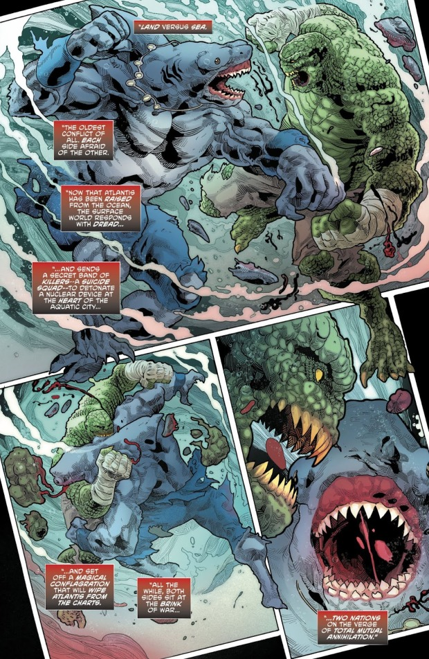 Killer Croc VS King Shark (Rebirth)