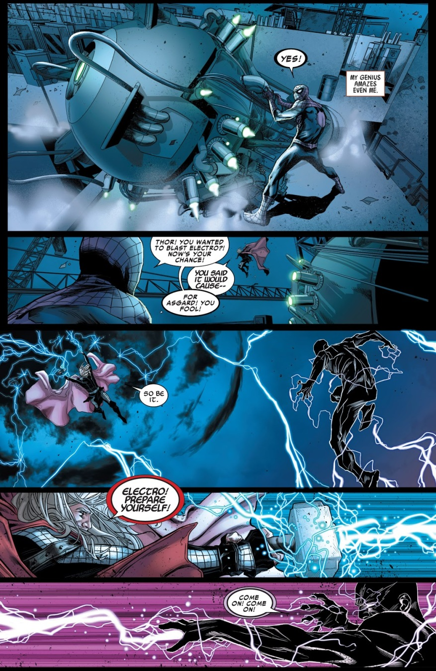 Superior Spider-Man And Thor VS Electro