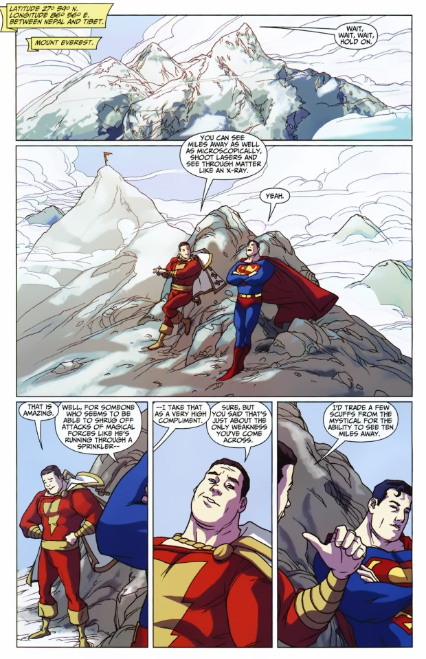 Superman And Captain Marvel Bonding At Mt. Everest