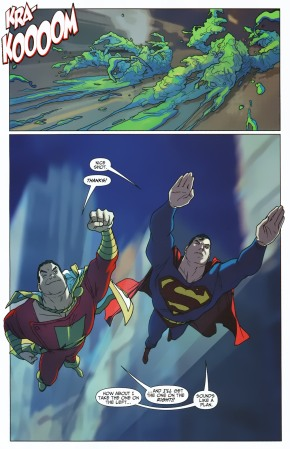 Superman And Captain Marvel VS Mallus Trolls