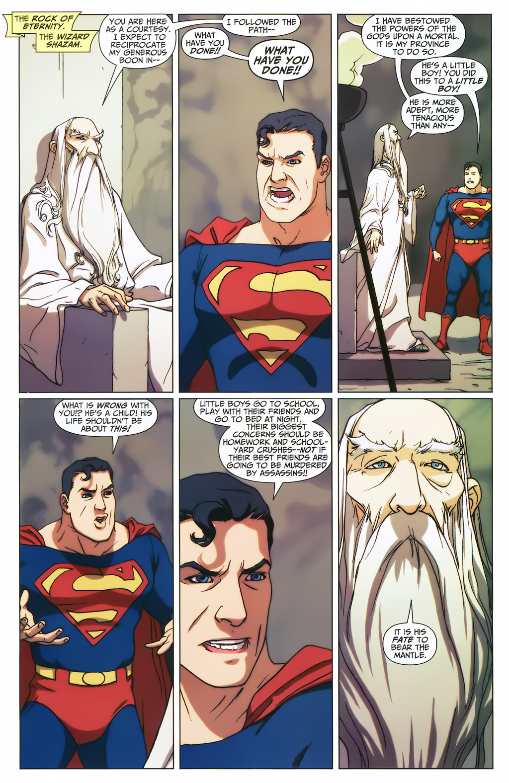 Superman Confronts The Wizard Shazam (First Thunder