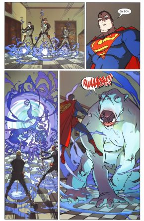 Superman VS Temple Of Bagdan Disciples