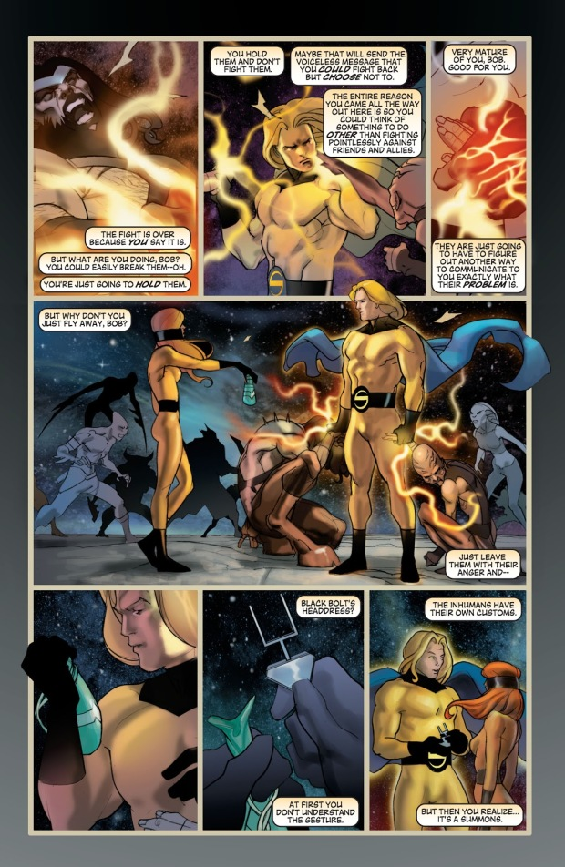 The Sentry VS The Inhumans (New Avengers)