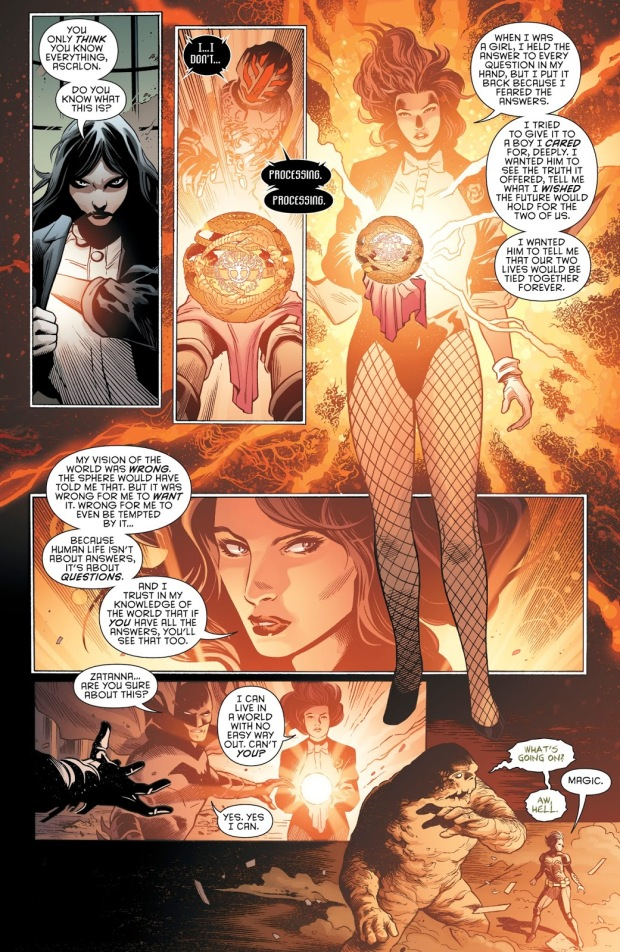 Zatanna Defeats Ascalon With The Gnosis Sphere