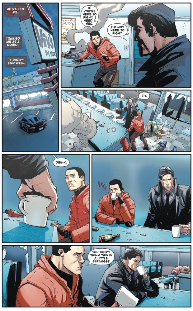 Bruce Wayne And Jason Todd Bury The Hatchet (Rebirth)