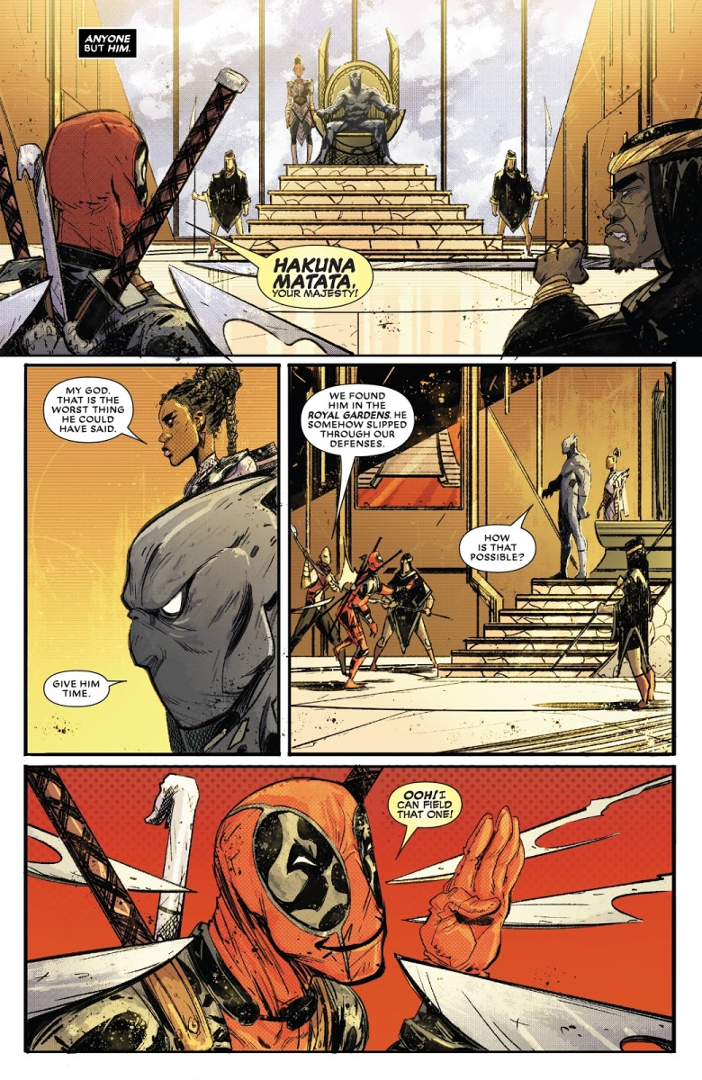 Deadpool Sneaks Inside Wakanda