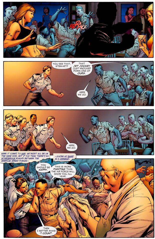 Hal Jordan And John Stewart Fist Fight (Secret Origins)