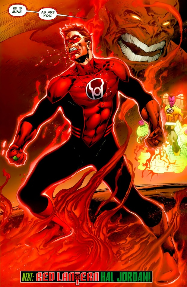 Hal Jordan Becomes A Red Lantern