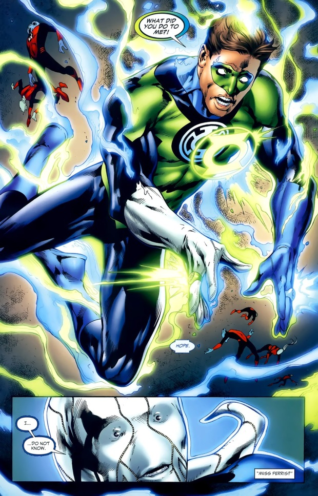 Hal Jordan Wearing A Blue Ring