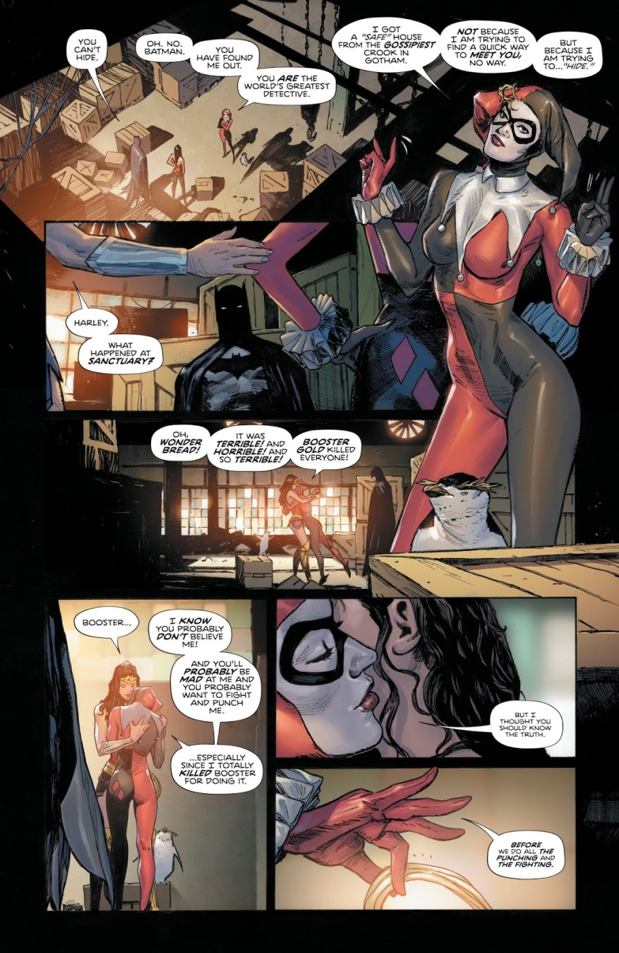 Harley Quinn Escapes From The Trinity