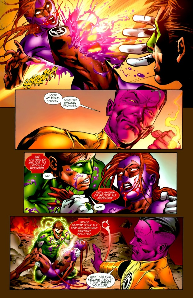 Sinestro Kills Red Lantern Laira