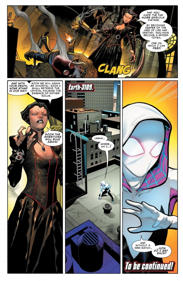 Verna Kills Master Weaver (Spider-Geddon)