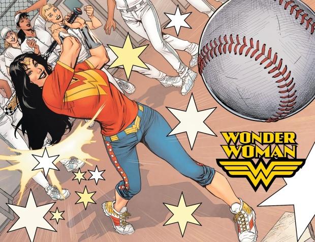 Wonder Woman Playing Baseball (Earth One)