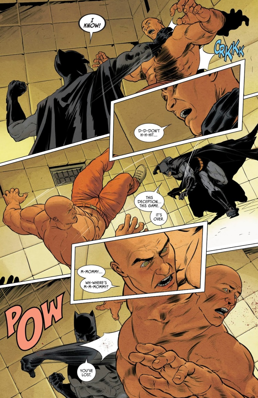 Batman Beats Up Bane (Rebirth)