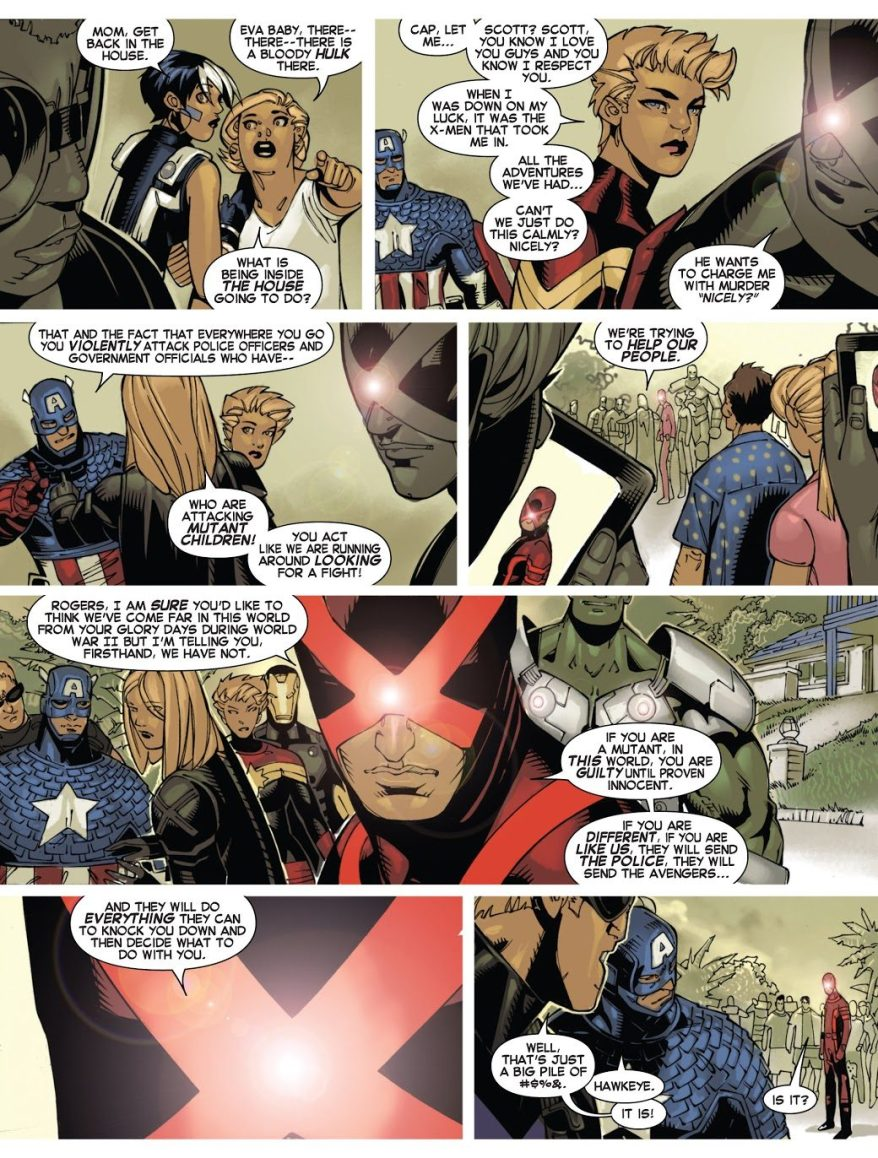 Cyclops Tells The Avengers To Go To Hell