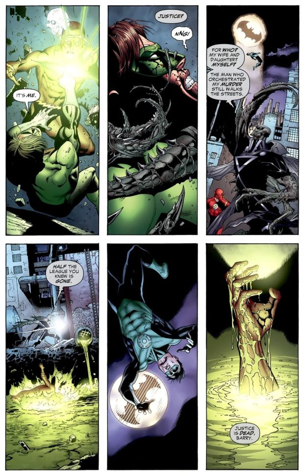 Green Lantern And The Flash VS Black Lantern Martian Manhunter