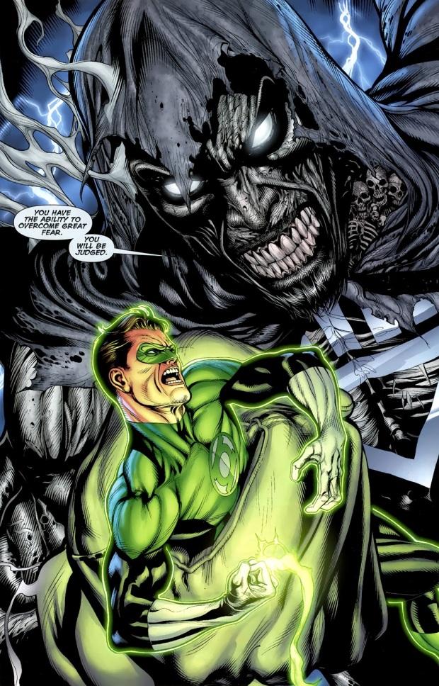 Green Lantern Hal Jordan VS Black Lantern Spectre