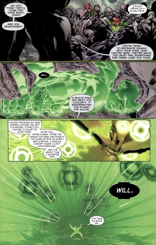 Green Lantern John Stewart VS Black Lanterns