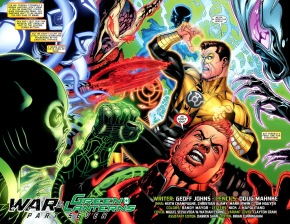 Hal Jordan And Guy Gardner VS Guardians Of The Universe