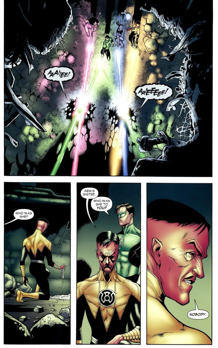 Hal Jordan And Sinestro VS Black Lantern Abin Sur
