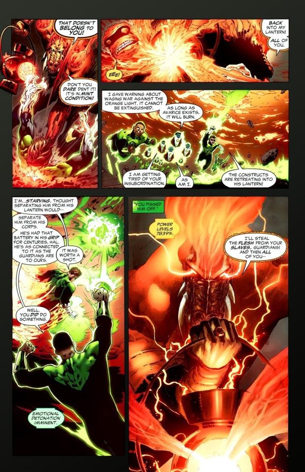 Hal Jordan With The Orange Lantern Battery