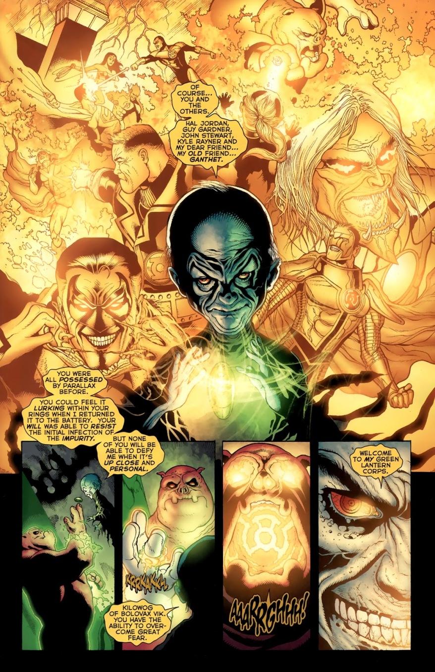 Krona Mind Controls Green Lantern Kilowog