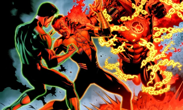 Red Lantern Atrocitus Takes On 5 Color Lanterns