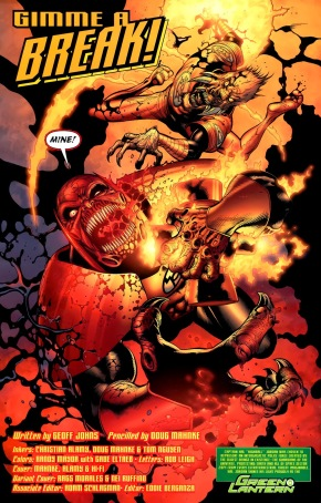 Red Lantern Atrocitus VS Agent Orange Larfleeze