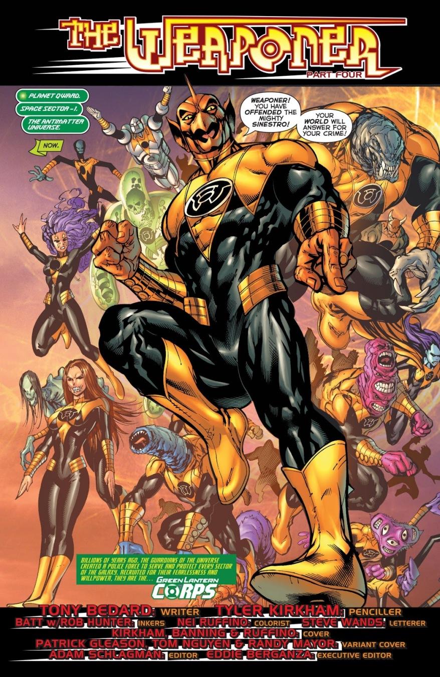 Sinestro Corps (Green Lantern Corps Vol. 2 #56)