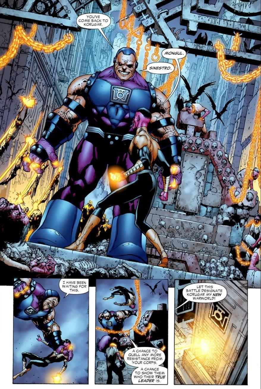 Sinestro VS Mongul (Blackest Night)