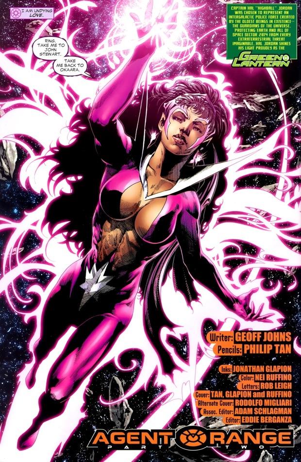 Star Sapphire Fatality (Green Lantern Vol 4 #40)