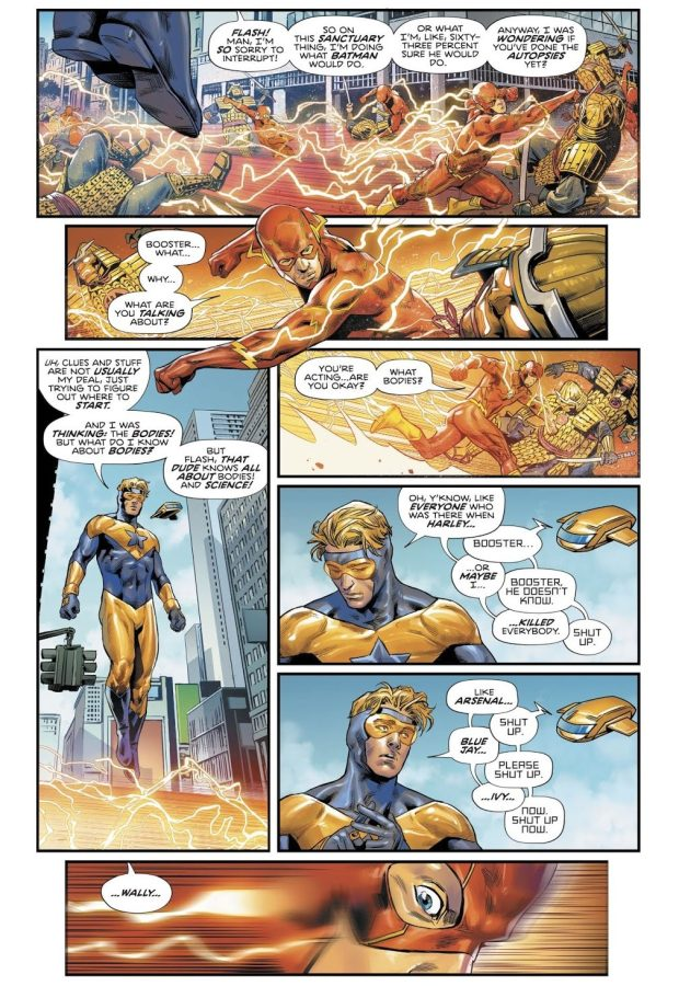 The Flash Punches Booster Gold (Heroes In Crisis)