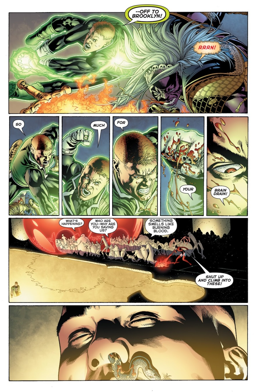 Green Lantern Guy Gardner Plucks Zardor's Eye