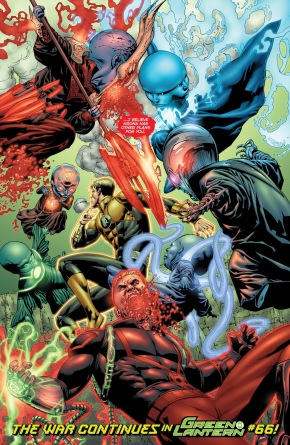 Guy Gardner And Hal Jordan VS Guardians Of The Universe