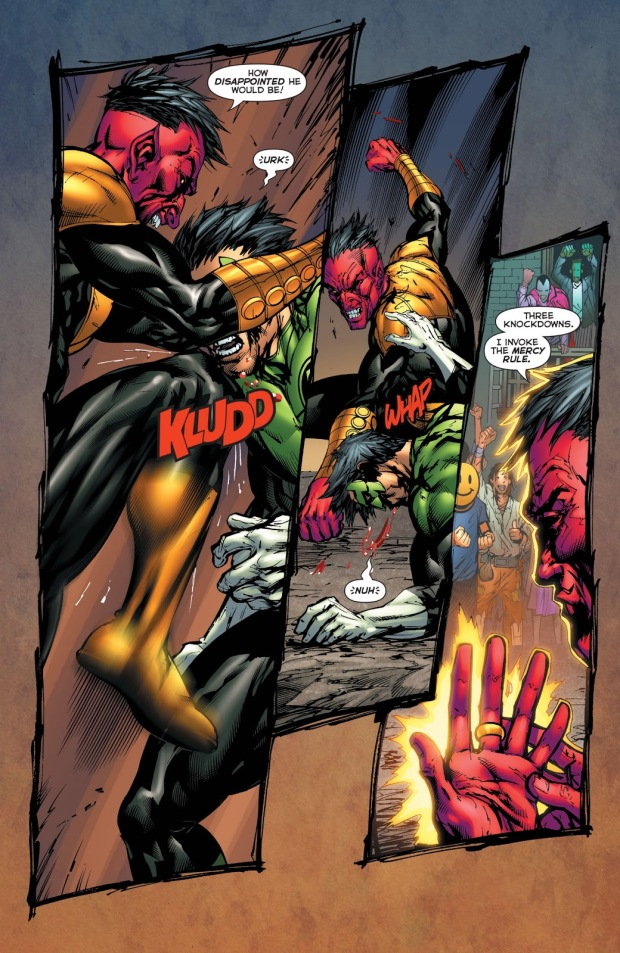 Kyle Rayner And Sinestro Fist Fight