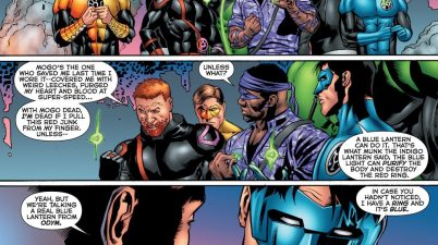 Kyle Rayner Heals Guy Gardner's Red Ring Infection