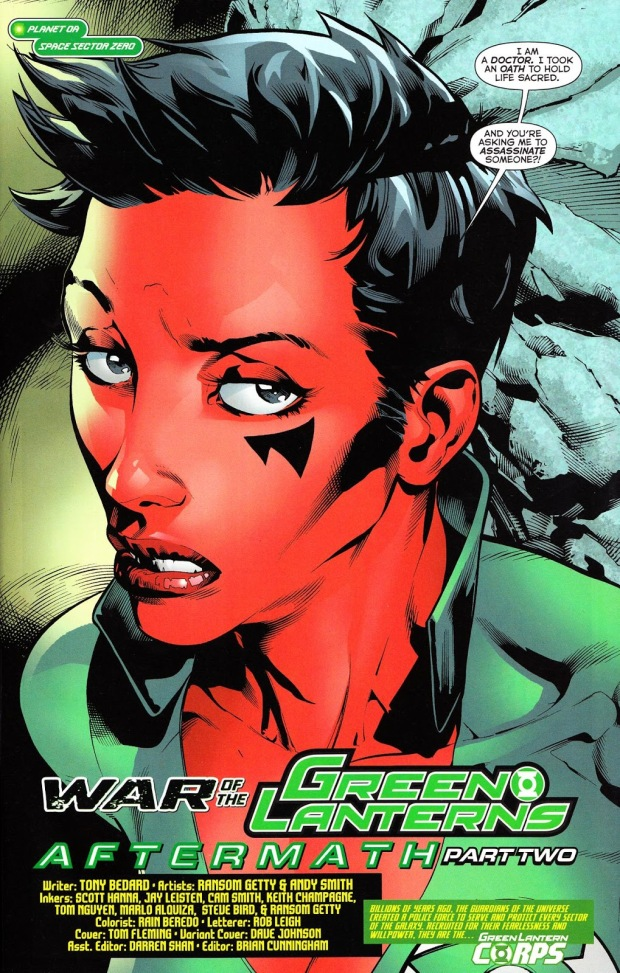 Soranik Natu (War of the Green Lanterns Aftermath #2)