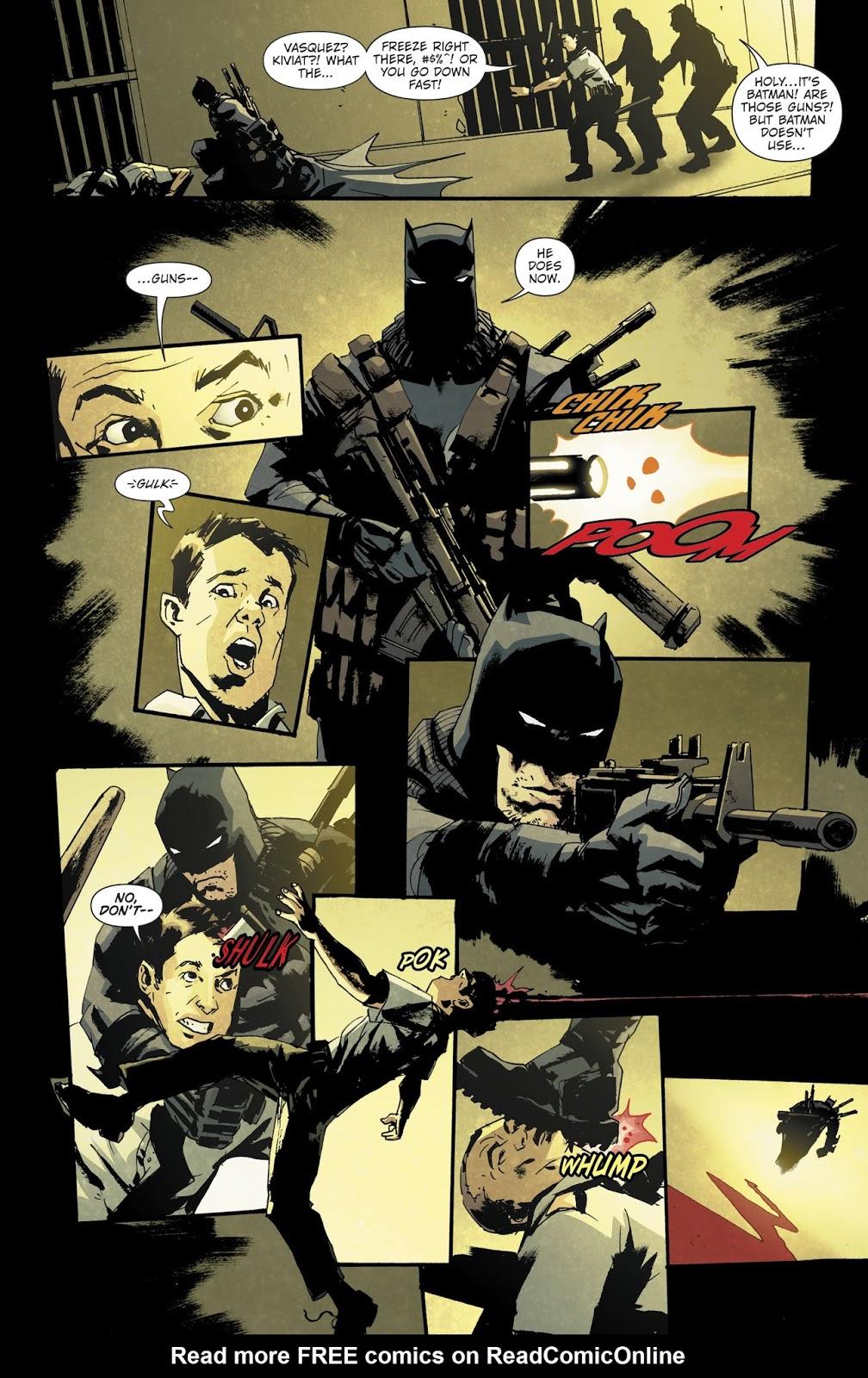 The Grim Knight Attacks Arkham Asylum   Comicnewbies