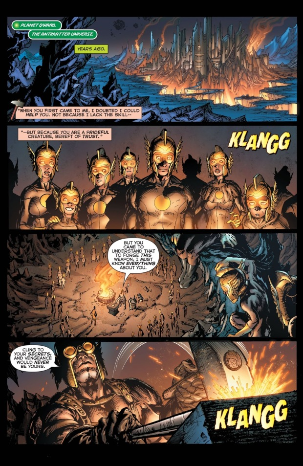 The Weaponer Creates Sinestro's Yellow Ring