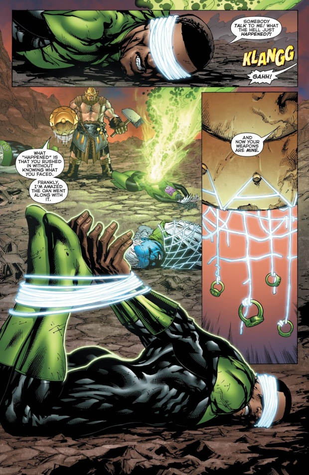 The Weaponer VS The Green Lantern Honor Guard