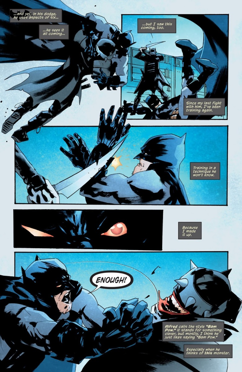 Batman Develops Bam Pow Fighting Technique