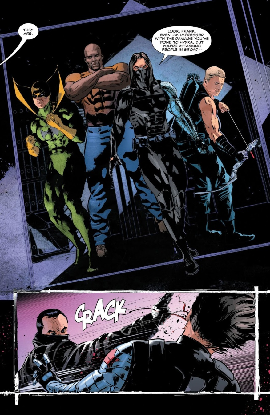 The Punisher VS Hawkeye, Winter Soldier, Iron Fist And Luke Cage