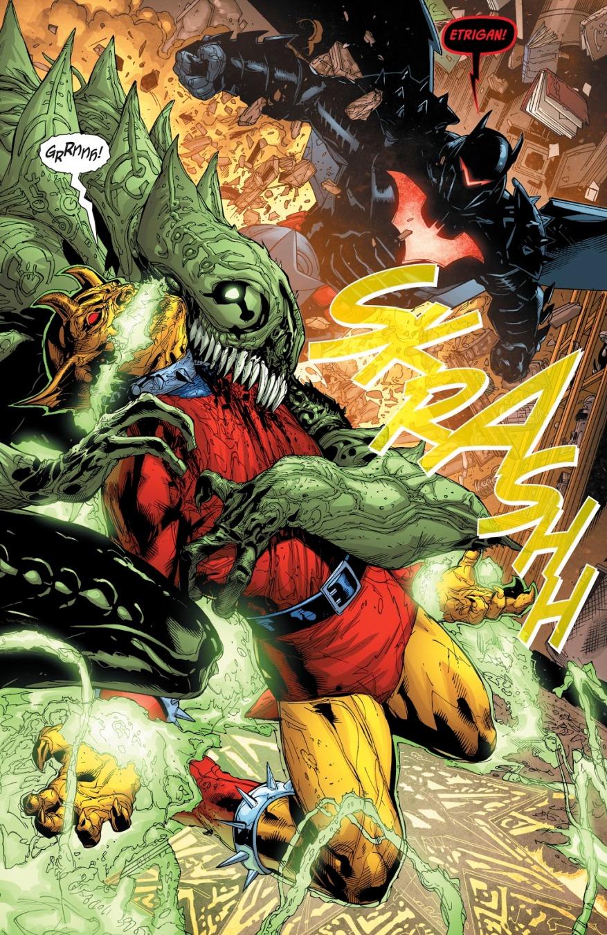 Batman Uses The Hellbat Against A Demon
