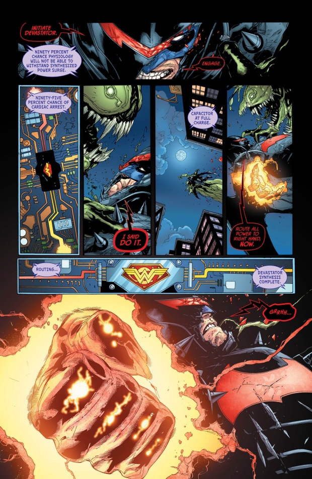 Batman Uses The Hellbat Against A Demon